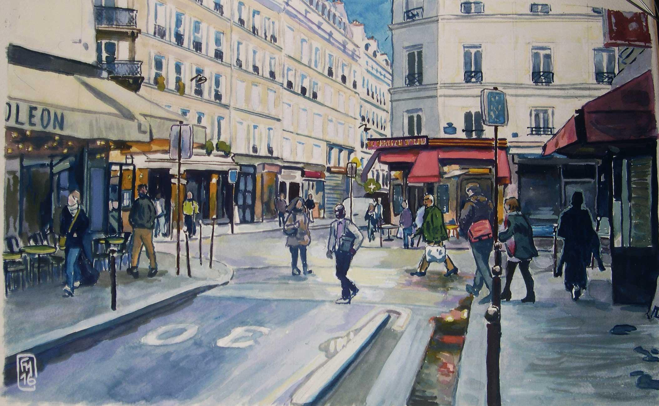 Paris, rue du Faubourg Saint-Denis